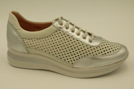 Zapato de cordon comodo de piel 2