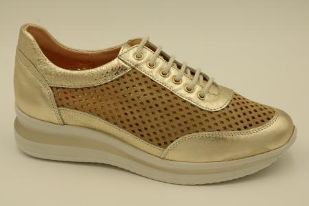 Zapato de cordon comodo de piel